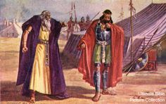 Saul and his force slew the women, the children, the infants, most of the men except for the Amalekite king Agag, and the weak of the cattle and sheep. Description from themythologicon.blogspot.com.es. I searched for this on bing.com/images