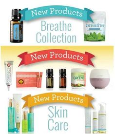 Introducing NEW products from doTERRA!!! I am excited to try them all! Message me for more info.  Shop with me at: www.doterra.susansmith.us