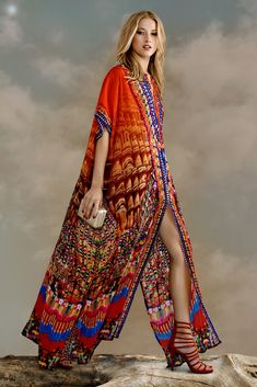 Parides Lace Up Kaftan Dress Long Maxi Heritage