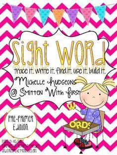 Sight Word Practice {trace it.write it.find it.use it.build it}