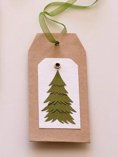 Consider fashioning handmade gift tags this year. Easy DIY gift tags: http://www.bhg.com/christmas/gift-wrapping/easy-gift-tags-and-gift-toppers/?socsrc=bhgpin110612treetag
