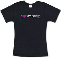 #ThinkGeek                #love                     #Love #Geek #Babydoll     I Love My Geek Babydoll Tee                                                   http://www.seapai.com/product.aspx?PID=1804981