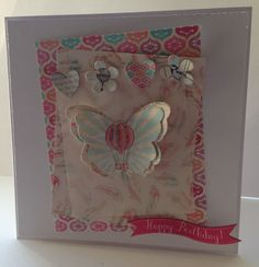 Card made by Jo Street with Craftwork Cards Flying High papers and die cuts.