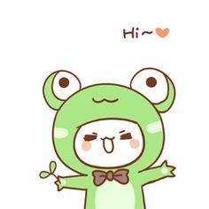 Hi cute cartoon pets image emoji Kawaii Doodles, Kawaii Chibi, Cute Chibi, Kawaii Cute, Kawaii Drawings, Cute Drawings, Frog Emoji, Cute Pictures To Draw, Cat Icon