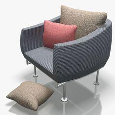 armchair-6 3d model max obj 3ds fbx 1