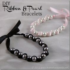 DIY Ribbon Pearl Bracelets are perfect for #Mothersday!  #yearofcelebrations