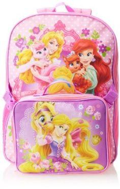 Disney Little Girls' Princess Palace Pets Backpack + Lunch Bag