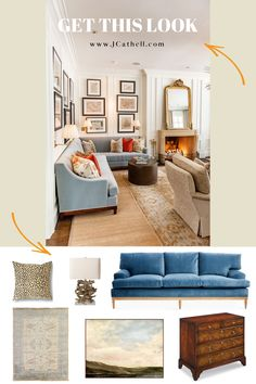You can finally shop this designer look on www.JCathell.com! Find pieces inspired by my transitional living room along with tips on how to recreate this look in your own home.