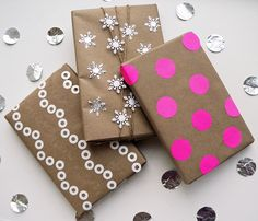 3 Beautiful Ways to Gift Wrap With Kraft Paper: Get creative with your wrapping this year and use materials you have around the home.
