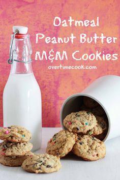 Oatmeal Peanut Butter M Cookies