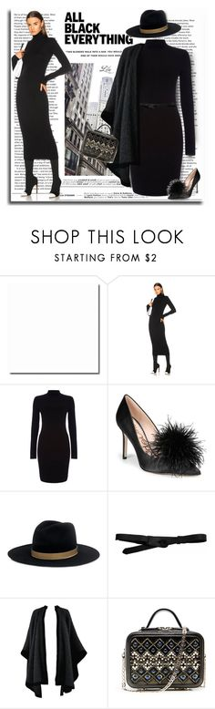 """Monochrome: All Black Everything"" by breathing-style ❤ liked on Polyvore featuring Haider Ackermann, Sam Edelman, IRO, Lowie, Yves Saint Laurent and La Perla"