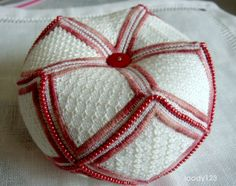 Whitework Embroidery: 15 Sided Biscornu - Free Patterns. I think it's a masterpiece!