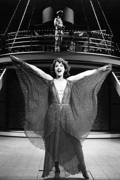 "Patti LuPone as Reno Sweeney in ""Anything Goes"" belting her face off in ""Blow, Gabriel, Blow""."