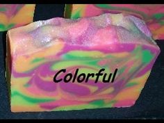 The cut of my Colorful Cold Process Soap - YouTube