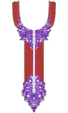 9628 Neck Embroidery Design