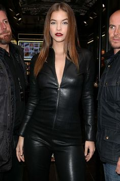 Leather Catsuit Leather Pants Barbara Palvin New Street Style Street Styles