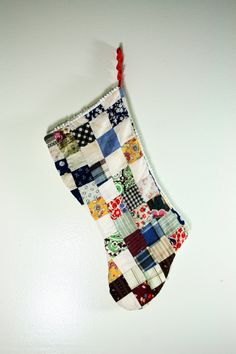 Christmas Stocking Handmade from Upcycled by vintagefindsetcetera, $15.00