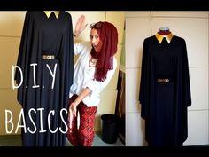 DIY: Easy Batwing Abaya for beginners designs Islamic Fashion, Muslim Fashion, Modest Fashion, Diy Fashion, Fashion Sewing, Clothes Crafts, Sewing Clothes, Abaya Pattern, Kimono