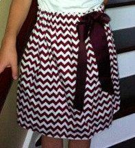 Aggie Chevron Skirt by SewHadleyKate on Etsy, $25.00