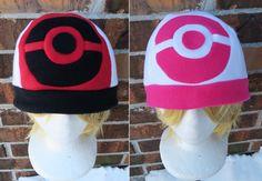af8d83647a2 Pokemon Black and White Trainer Hat - Fleece Hat Adult