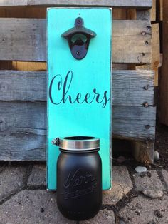 A personal favorite from my Etsy shop https://www.etsy.com/listing/245784748/wall-mount-bottle-opener-cheers-with