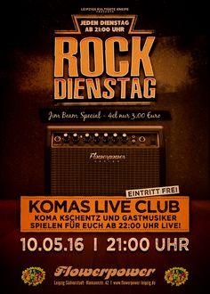 Dienstag, 10.05.16 - http://flowerpower.news/leipzig/Termine/komas-live-club-und-gaeste