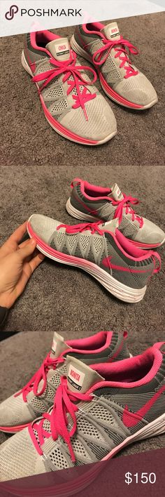 Customized NikeiD Flyknit Lunar 2 Barely worn- customized Nikes Nike Shoes Sneakers