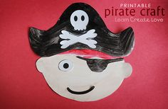 Printable Pirate Craft from http://learncreatelove.com