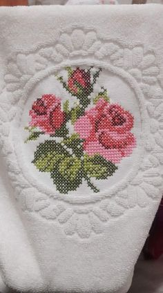 This Pin was discovered by İfa Cross Stitch Rose, Cross Stitch Borders, Cross Stitching, Cross Stitch Embroidery, Hand Embroidery, Cross Stitch Patterns, Bargello, Textile Design, Needlepoint