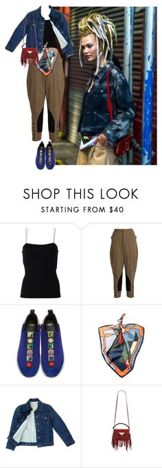 """Attention, Please!!!"" by flippintickledinc ❤ liked on Polyvore featuring T By Alexander Wang, Miu Miu, Fendi, Laura Biagiotti and Sara Battaglia"