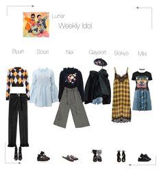 """Lunar (루나) Weekly Idol"" by lunar-official ❤ liked on Polyvore featuring Frame, MSGM, Ganni, Gucci, Miu Miu, Fabrizio Viti, Puma, Boohoo, Miss Selfridge and lunarvariety"
