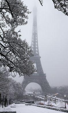 Tour Eiffel ~ Paris in winter, France