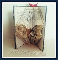 Δώρο ♥ Μονογράμματα ♥ Καρδιά ♥ Letters ♥ Book Folding ♥ Book Art ♥ Book Art By Kallitsa ♥ Δώρο για επέτειο γάμου ή σχέσης  #bookartbykallitsa #bookfolding #βιβλίο #ιδέες #δώρα
