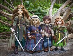 Doll sized swords by Mason Leggee, costumes and photography by Martha Boers.