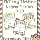 Monkey Themed Number Posters 0-20 - Natalie Lemacks