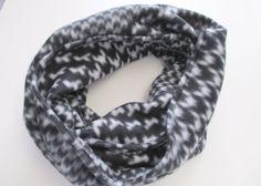 plaid infinity fleece scarf houndstooth black by gillionmillion, $18.00