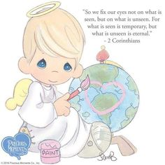 Shop Precious Moments for collectible porcelain gifts & figurines, as well as other ornaments, dolls, unique gifts & more. Precious Moments Quotes, Precious Moments Figurines, Moment Quotes, Bible Art, Bible Scriptures, Crochet Humor, My Precious, Beautiful Words, Christianity