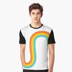 'Tiny rainbow' Graphic T-Shirt by Cheap T Shirts, My Portfolio, Cool Outfits, My Arts, Rainbow, Printed, Awesome, People, Mens Tops