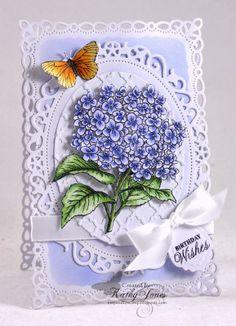 Inspired to Stamp: Hydrangea Birthday Wishes