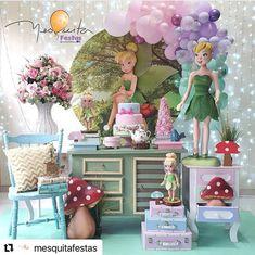 Festa Thinker Bell, Peter Pan, Disney, Instagram, Faeries, Characters, Brazil, Princesses, Peter Pans
