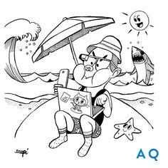 #funnyillustrations #developer #onvacation #AQuest #CreativeAgency
