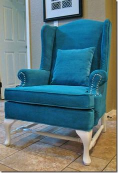 How to paint upholstery #diy #chair #paint #upholstery