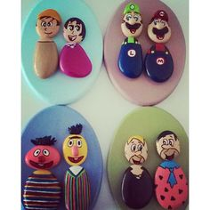 Photo from taskolik_... Characters made from stones!