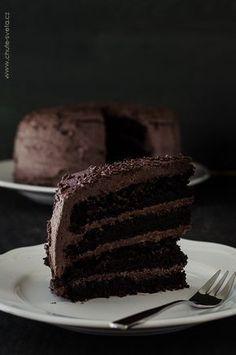 nejlepší čokoládový dort Divine Chocolate, Chocolate Delight, Czech Desserts, Ghirardelli Chocolate, Chocolate Cake, Cake Shop, Something Sweet, Let Them Eat Cake, How To Make Cake