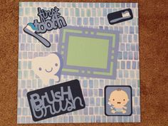 First Tooth Premade 12x12 Scrapbook Page van KimsCrafts39 op Etsy