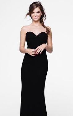 Beaded Long Gown by Tarik Ediz 50003