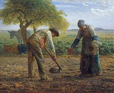 Jean-François Millet - Potato Planters.