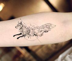 Cheap tattoo sticker, Buy Quality fake tattoos stickers directly from China temporary fake tattoos Suppliers: Waterproof Temporary Fake Tattoo Stickers Sexy Cool Black Grey Geometric Fox Animals Design Body Art Makeup Tools Fake Tattoos, Trendy Tattoos, Sexy Tattoos, Unique Tattoos, Body Art Tattoos, Flower Tattoos, Unique Animal Tattoos, Cross Tattoos, Sleeve Tattoos
