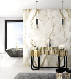 Discover Maison Valentina by Boca do Lobo, a luxury bathroom line. A combination of innovative design and incredible details for an unmatched bathing experience Bathroom Design Luxury, Bathroom Interior, Modern Bathroom, Luxury Bathrooms, Master Bathroom, Bathroom Wall, Gold Bathroom, Bathroom Furniture, Small Bathroom