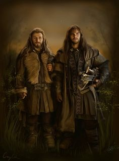 I had a lot of time these days, because I'm a little sick and had to do something with my hands. So here it is, Fili, Kili and tiny flowers. Fili and Kili from the Hobbit movie. The original title ...